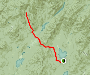 Elk Lake to Panther Gorge Map