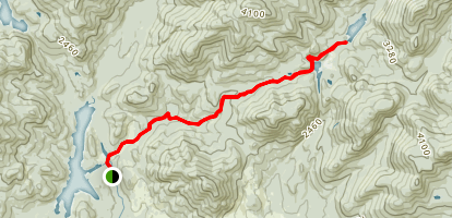 Calamity Brook Trail to Lake Colden Map