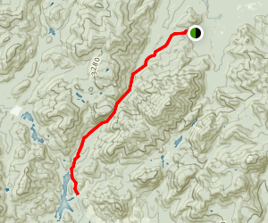Indian Pass Trail to Henderson Lake  Map
