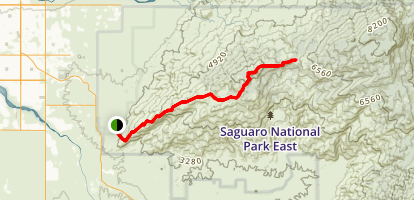 Tanque Verde Ridge Trail Map