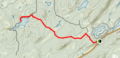 Middle Settlement Lake Trail Map
