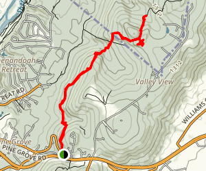 Appalachian Trail: Snickers Gap to Blackburn Trail Center Map