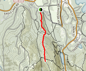 Kebo Mountain and Dorr North Ridge Trails Map