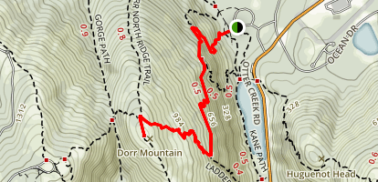 Schiff Path to Dorr Mountain Map
