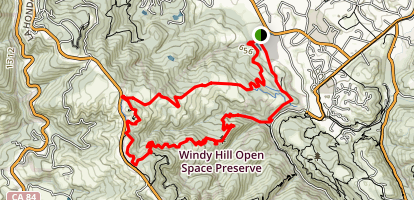 Hamms Gulch to Spring Ridge Trail Loop Map
