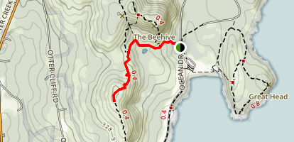 North Gorham Mountain Trail Map