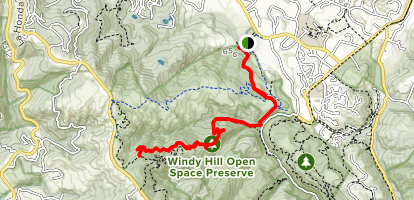 Hamms Gulch Trail Map