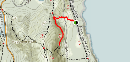 Orange and Black Path Trail Map
