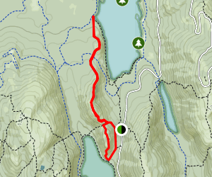Bubbles Trail to Conners Nubble and Eagle Lake Map