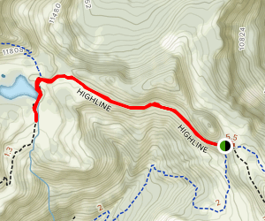 Highline Trail to Taylor Lake Map