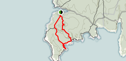 Duck Harbor Mountain and Goat Trails to Deep Cove Map