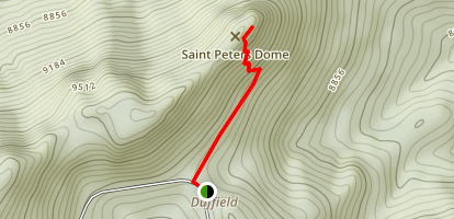 Saint Peter's Dome Trail Map