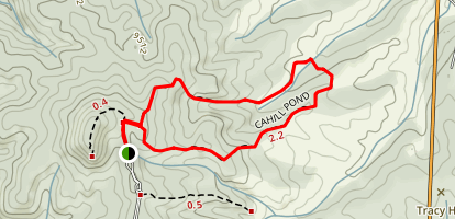 Cahill Pond Trail Map