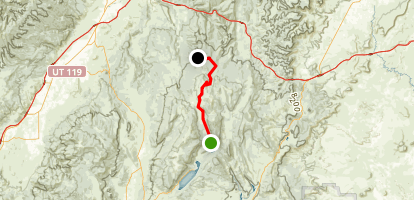 Sevenmile Cruise to Gooseberry Campground Map