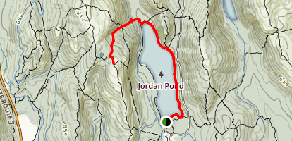 Deer Brook Trail via Jordan Pond Path Map