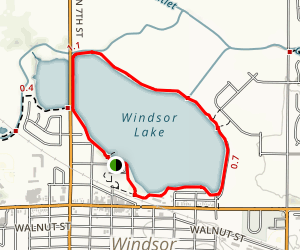Windsor Lake Loop Trail Map