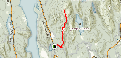 Sargent Mountain South Ridge Trail Map