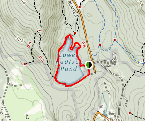 Lower Hadlock Pond Loop Trail Map