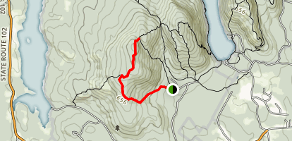 Bernard Mountain Trail Map