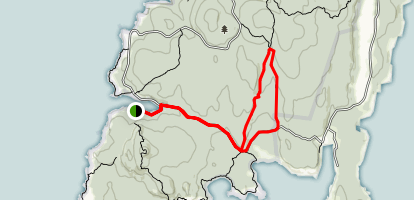 Median Ridge and Nat Merchant Trails Map