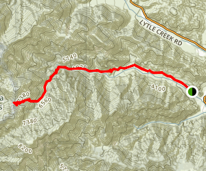Middle Fork Road to Icehouse Saddle Map