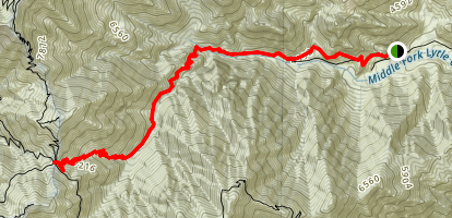 Middle Fork Trail to Icehouse Saddle Map