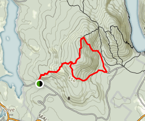 Bernard Mountain Loop Trail Map