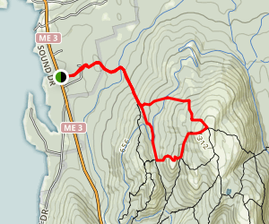 Giant Slide Trail to Sargent Mountain and Gilmore Peak Map