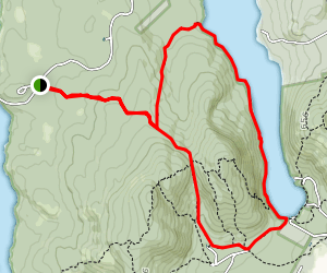Great Long Pond Trail from Great Notch Map