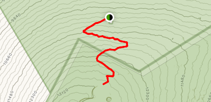 Observatory Trail to North Pit Junction Map