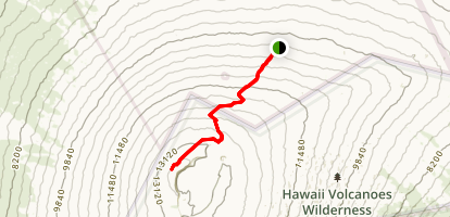 Mauna Loa Summit Trail Map