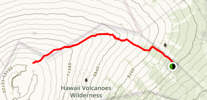 Mauna Loa Trail to the Summit Map