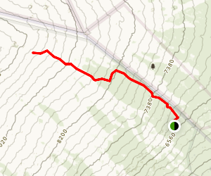 Mauna Loa Trail to Red Hill Map
