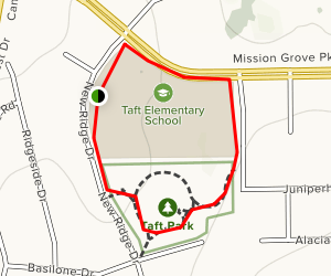 Taft Park Trail Map