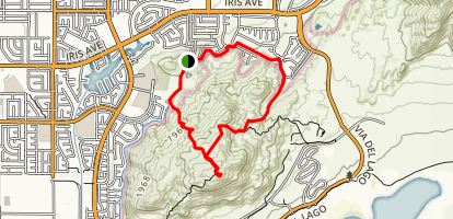 Bernasconi Hills Trail to Teri's Peak Map