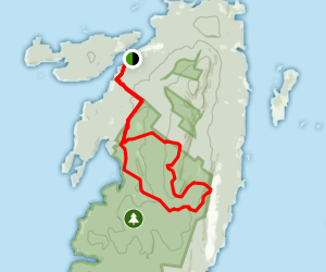 Bowditch and Long Pond Trails via Duck Harbor Trail Map