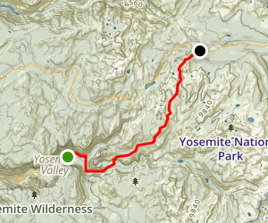 Yosemite Valley to Tuolumne Meadows Trail Map