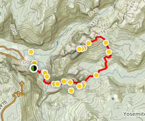 Half Dome Trail Map