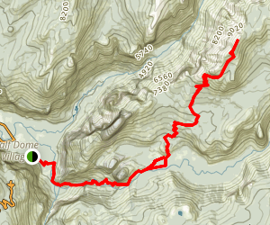 Clouds Rest Trail from Yosemite Valley Map