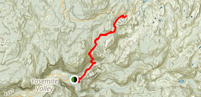 Snow Creek Falls Trail Map