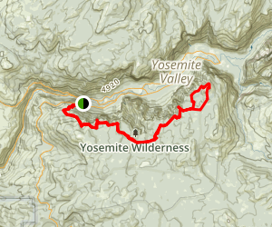 The Pohono Trail from Inspiration Point Map