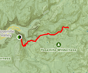 Panorama Trail to Little Yosemite Valley Map