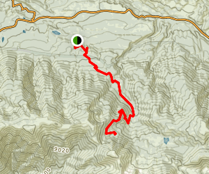 South Fork to Dollar Lake Trail Map