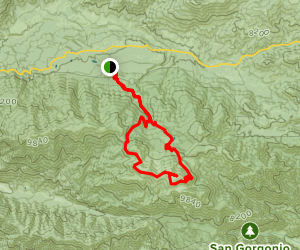 South Fork Trail to San Gorgonio Mountain via Mine Shaft Saddle Map