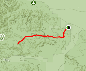 Porcupine Wash to Monument Mountain Trail Map