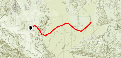 California Riding and Hiking Trail: Keys View Road to Pinto Basin Road Map