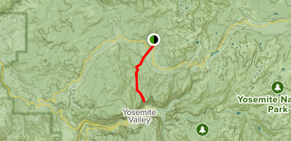 Tioga Road to Yosemite Falls and Eagle Peak Map