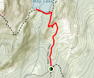 May Lake High Sierra Camp Trail Map