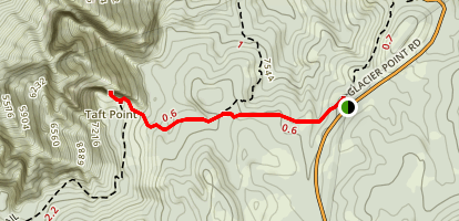 Taft Point and The Fissures Map
