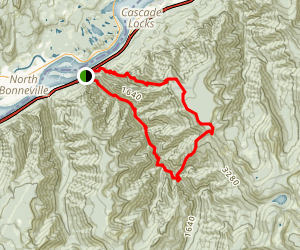Eagle Creek to Benson Plateau Loop Map